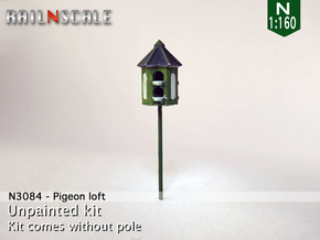 Pigeon-loft (N 1:160) in Smoothest Fine Detail Plastic