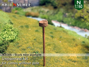 Stork nest platform (N 1:160) in Smooth Fine Detail Plastic