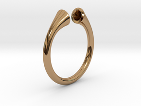Gramaphonic Ring, US size 8,5 d= 18mm. Place M in Polished Brass: 8.5 / 58