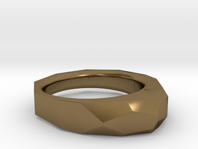 Decagon Faceted Ring 4.5 in Polished Bronze