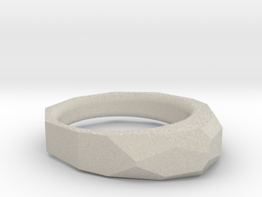 Decagon Faceted Ring 4.5 in Natural Sandstone