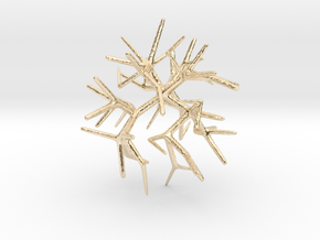 Shortest Walk Algorithm Coral Approximation in 14k Gold Plated