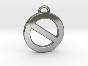 Golden Power of Veto in Fine Detail Polished Silver