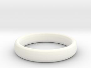 Simple Ring (Size 13) in White Processed Versatile Plastic