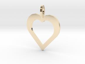 Kodas Heart in 14k Gold Plated Brass