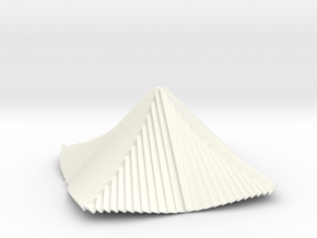 Curved Pyramid 3D V1 in White Strong & Flexible Polished
