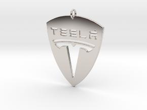 Tesla Pendant in Platinum
