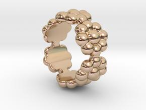 New Flower Ring 28 - Italian Size 28 in 14k Rose Gold Plated Brass