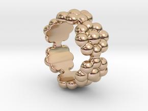 New Flower Ring 29 - Italian Size 29 in 14k Rose Gold Plated Brass
