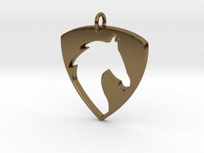 Horse Head V2 Pendant in Polished Bronze