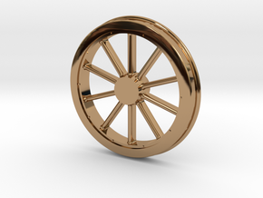 McKeen Driver Wheel In O Scale in Polished Brass