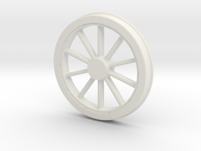 McKeen Driver Wheel In O Scale in White Natural Versatile Plastic