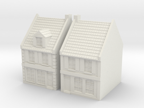 1:285-City House X2  in White Natural Versatile Plastic