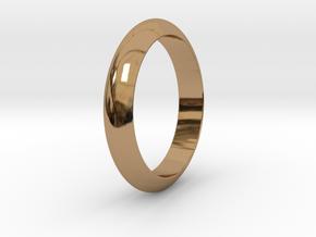 Ø21.87 Functional Design Ring Ø0.861 inch in Polished Brass