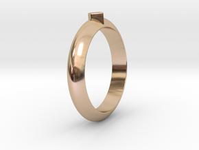 Ø21.87 Design Ring Ø0.861 inch in 14k Rose Gold Plated Brass