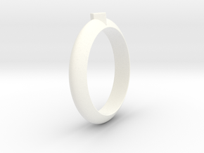 Ø21.87 Design Ring Ø0.861 inch in White Processed Versatile Plastic