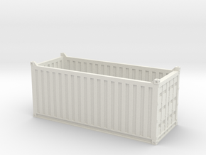 HO 20ft Open Top Container in White Natural Versatile Plastic