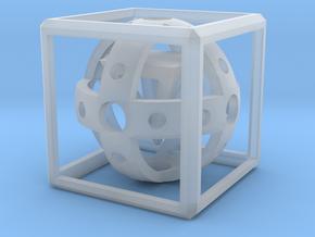 3D Magic Box in Smooth Fine Detail Plastic