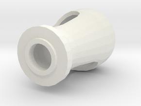 1/16 Churchill Muzzle Brake - Mündungsbremse  in White Natural Versatile Plastic