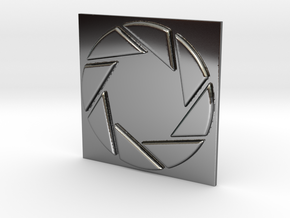 Aperture Laboratories Keychain in Fine Detail Polished Silver