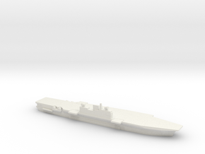 Malta-Class CV, Angled Deck, 1/2400 in White Natural Versatile Plastic
