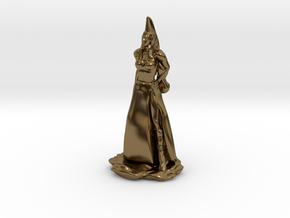 Fanstasy Princess with Hennin hat in Polished Bronze