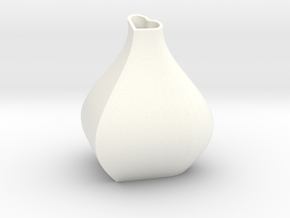 Heart + Sine Wave = Vase in White Processed Versatile Plastic