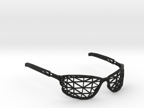 Wireframe Glasses in Black Natural Versatile Plastic