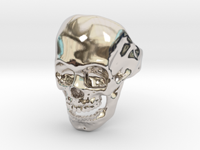 The Original Skull Ring in Rhodium Plated Brass