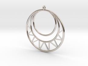 Circles Pendant in Rhodium Plated Brass