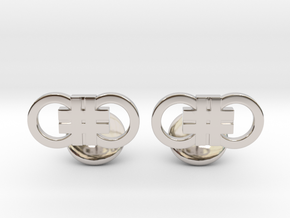 Hashcuffs Cufflinks in Rhodium Plated Brass