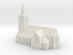 1:285-Church in White Natural Versatile Plastic