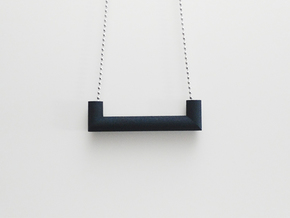 Pipe Pendant N°4 in Black Natural Versatile Plastic
