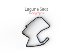 Laguna Seca | Small Topographic in Full Color Sandstone
