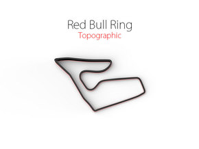 Red Bull Ring   Topographic Small in Full Color Sandstone