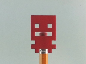Turbo Buddy Pencil Topper in Red Strong & Flexible Polished