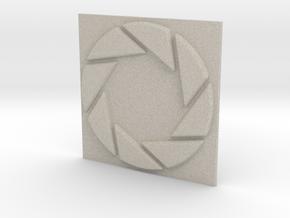 Aperture Laboratories Keychain in Natural Sandstone
