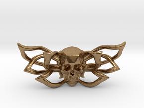 Bow tie The Skull /brooch in Natural Brass