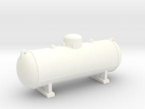 Propane tank 500 gallon. HO Scale (1:87) in White Processed Versatile Plastic
