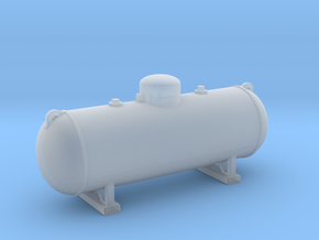 Propane tank 500 gallon. HO Scale (1:87) in Smooth Fine Detail Plastic