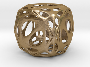 Dice framework 5cm square in Polished Gold Steel