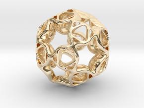 Pendant framework star in 14k Gold Plated Brass