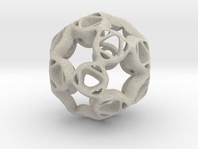 Pendant framework star in Natural Sandstone