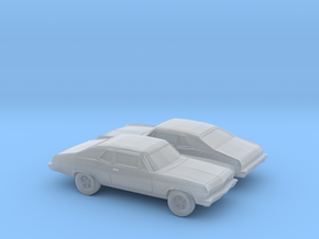 1/160 2X 1971-74 Chevrolet Nova in Smooth Fine Detail Plastic