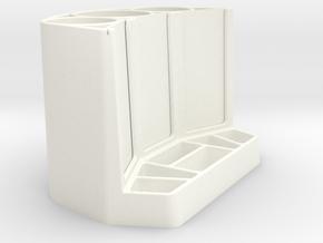 Vases and Frame. in White Processed Versatile Plastic