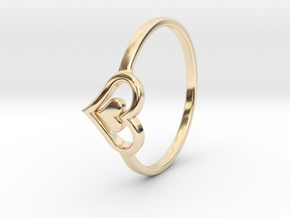 Heart Ring Size 8 in 14K Yellow Gold