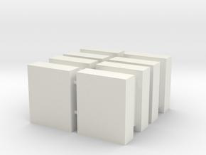 DeAgo Falcon Main Hold Cargo Boxes, 4 Large Boxes in White Natural Versatile Plastic
