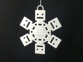 Turbo Buddy Snowflake Ornament in White Strong & Flexible Polished