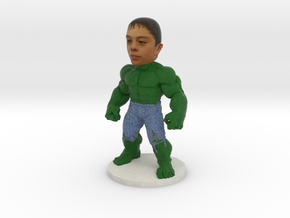 Hulk Cake Topper Mini Figure in Full Color Sandstone