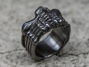 Alien FaceHugger ring SIZE 11 US in Matte Black Steel